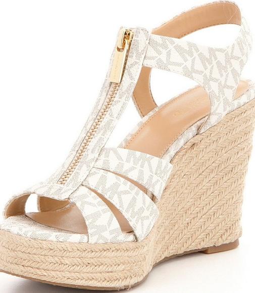 bf63d3d22bf9 Michael Kors Berkley Wedge Sandals Size 8.5. M 5ad0ed069d20f06007a3dd32